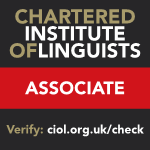 our services are garantee by chartered institute of linguists